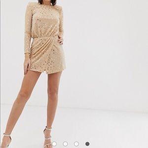 Asos - Flounce London gold dress